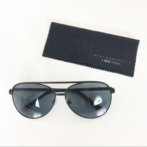 Quay x Desi Perkins Black Aviator Sunglasses